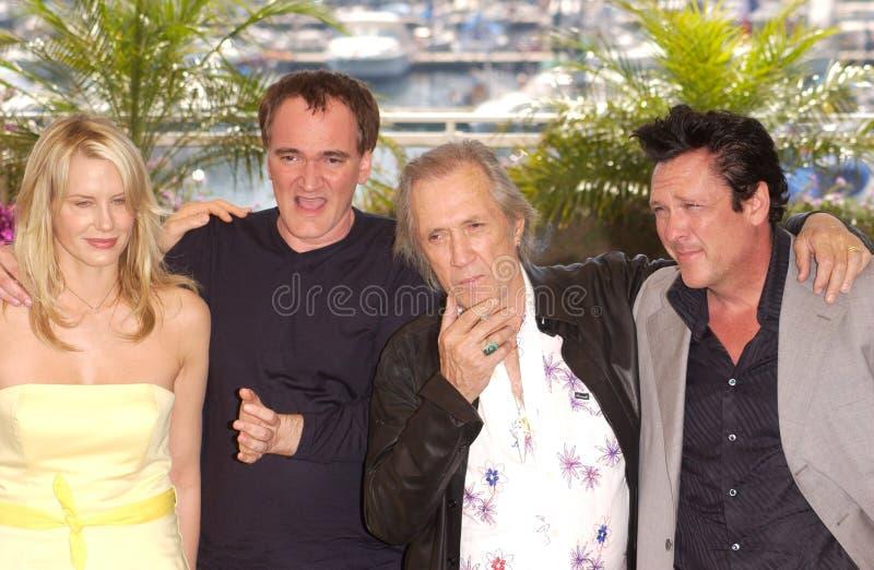 Daryl Hannah, David Carradine, Michael Madsen, Quentin Tarantino obrazy royalty free