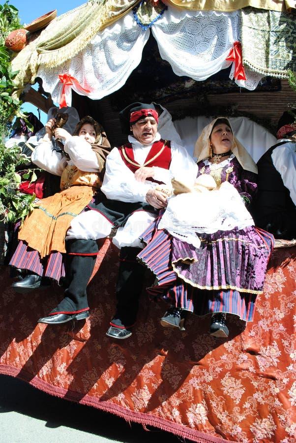Masken von Sardinien stockbilder