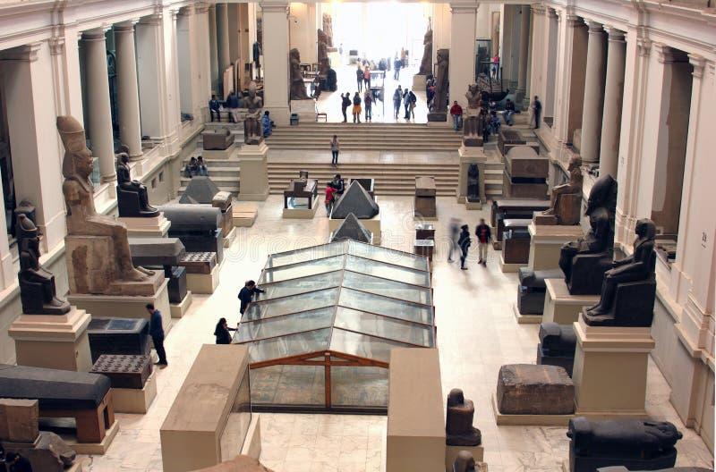 Das ägyptische Museum von innen stockbilder