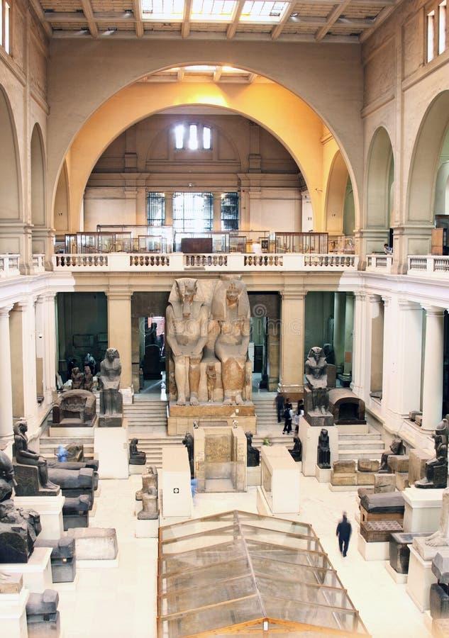 Das ägyptische Museum von innen lizenzfreie stockbilder
