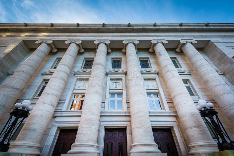 Das Äußere des New-Haven Grafschafts-Gerichtes, in im Stadtzentrum gelegenem neuem stockbild