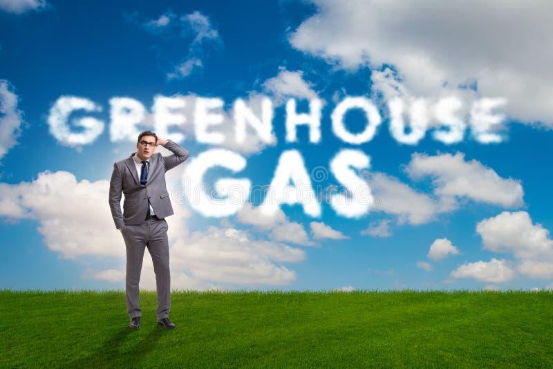 Das ökologische Konzept von Treibhausgasemissionen lizenzfreie abbildung