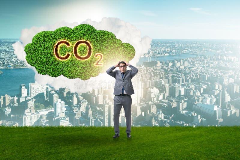 Das ökologische Konzept von Treibhausgasemissionen lizenzfreie stockfotos