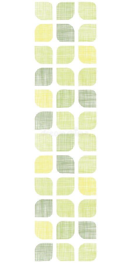 Das abstrakte gerundete Textilgrün quadriert Vertikale lizenzfreie abbildung