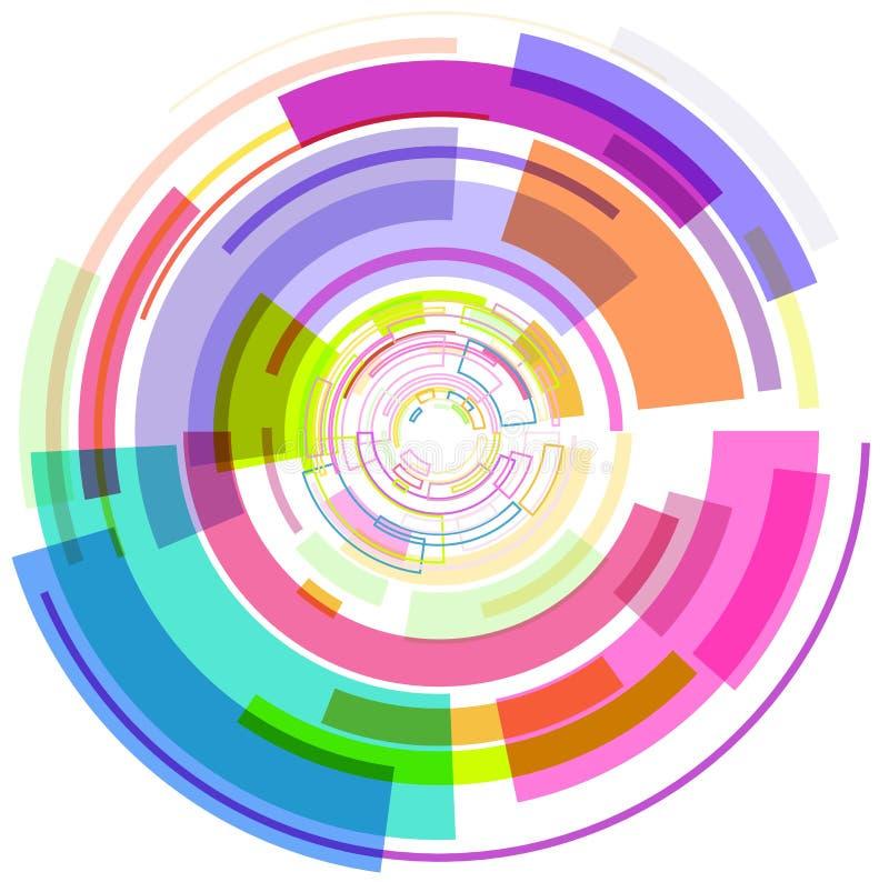 Das abstrakte Mehrfarbenkreisbild lizenzfreie abbildung