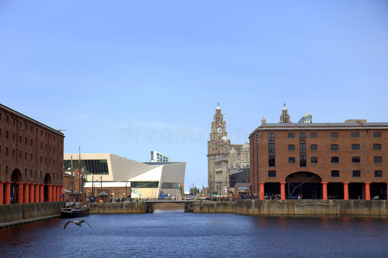 Das Albert-Dock in Liverpool stockfoto