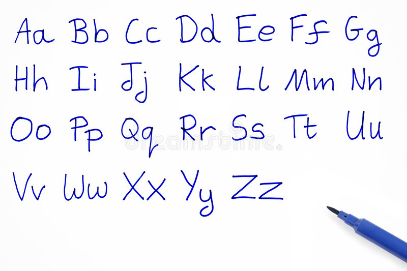 Das Alphabet. stock abbildung