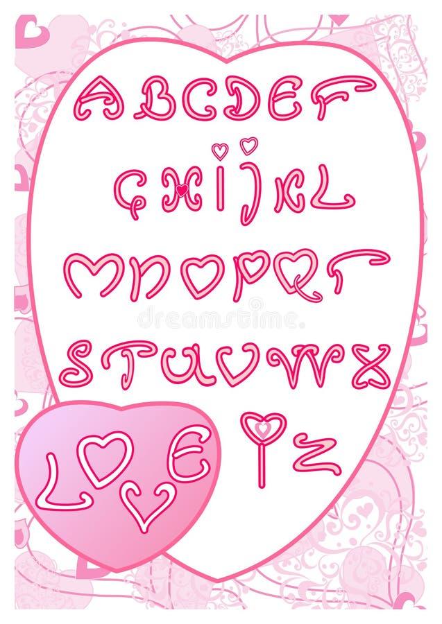 Download Das Alphabet der Liebe vektor abbildung. Illustration von dekoration - 26361139