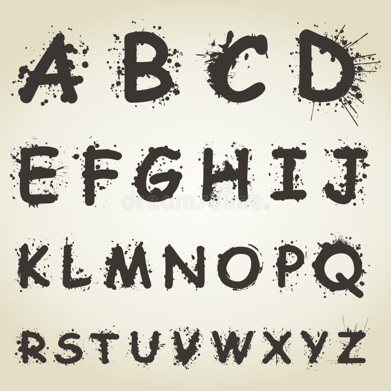Alphabet ein Fleck lizenzfreie abbildung