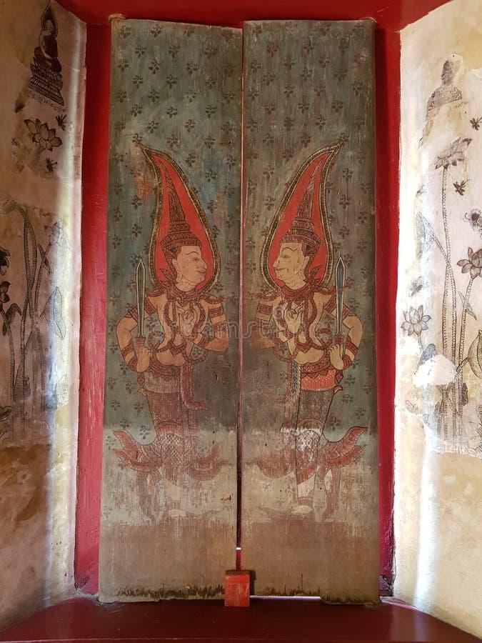 Das alte Bild bei Wat Mung in Thailand stockbilder