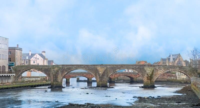 Das alte Brigg Ayr Schottland lizenzfreie stockbilder