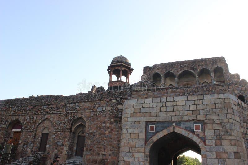 Das alte Fort Neu-Delhi Indien lizenzfreie stockbilder