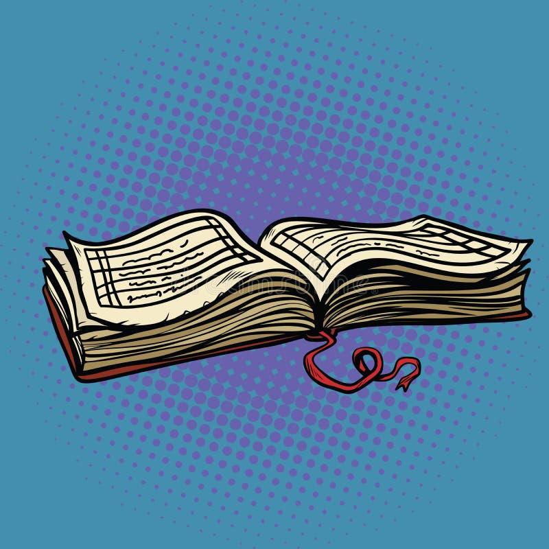 Das alte Geschäftsbuch lizenzfreie abbildung