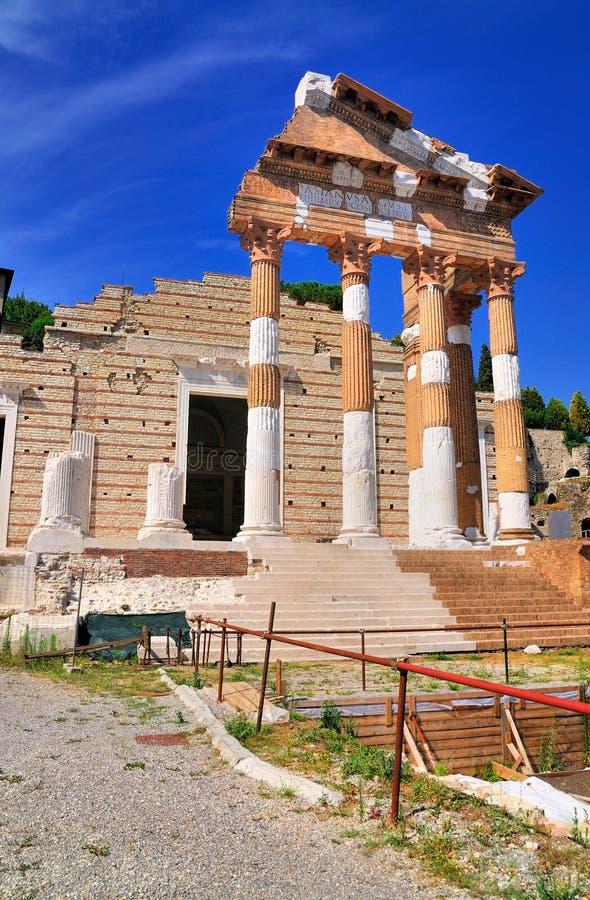 Römischer Tempel, Brescia, Italien. lizenzfreies stockfoto