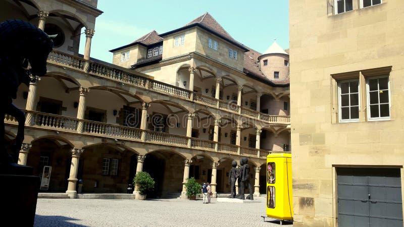 Das alte Schloss von Stuttgart lizenzfreie stockbilder