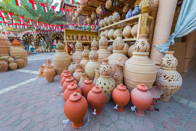 Das alte Souq von Nizwa, in Oman stockbild