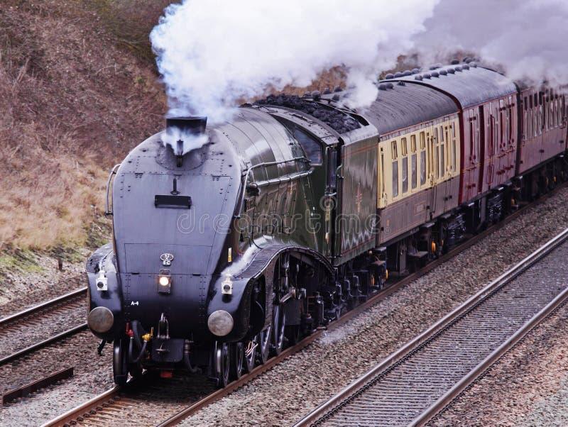Das Alter des Dampfs, Weinlese-Lokomotive stockfotos