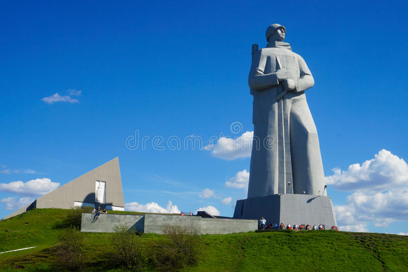 Das Alyosha-Monument zu den Verteidigern der Arktis im zweiten Weltkrieg stockfoto