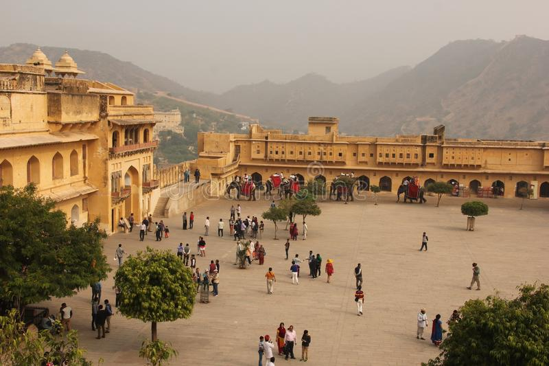 Das Amer-Fort von Jaipur stockbild