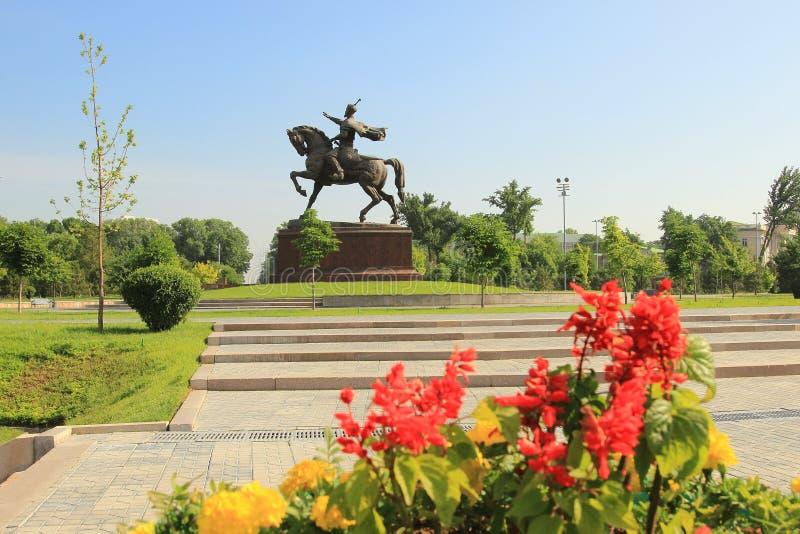 Das Amir Temur-Monument in Taschkent-Stadt, Usbekistan stockbild