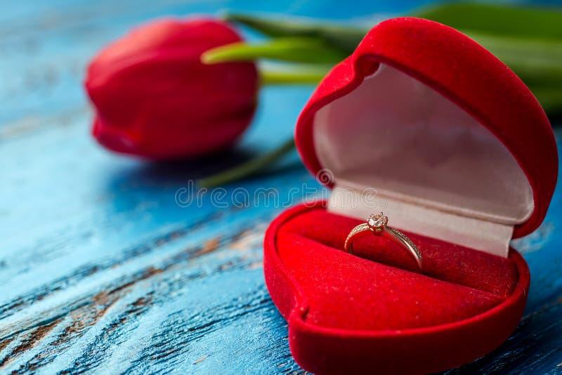 Das Angebot zu heiraten Ein Geschenk für St.-Valentinsgruß ` s Tag Marria stockfotos