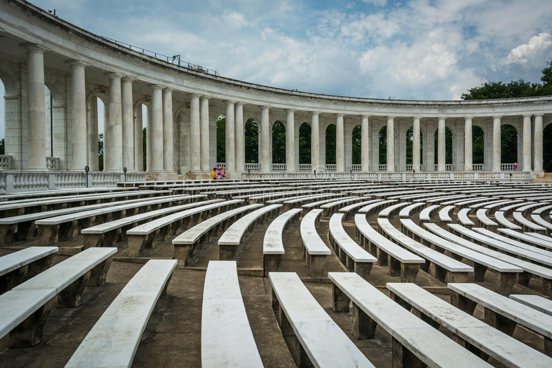 Das Arlington-Erinnerungsamphitheater an Arlington-Staatsangehörigem Cemete lizenzfreie stockfotografie