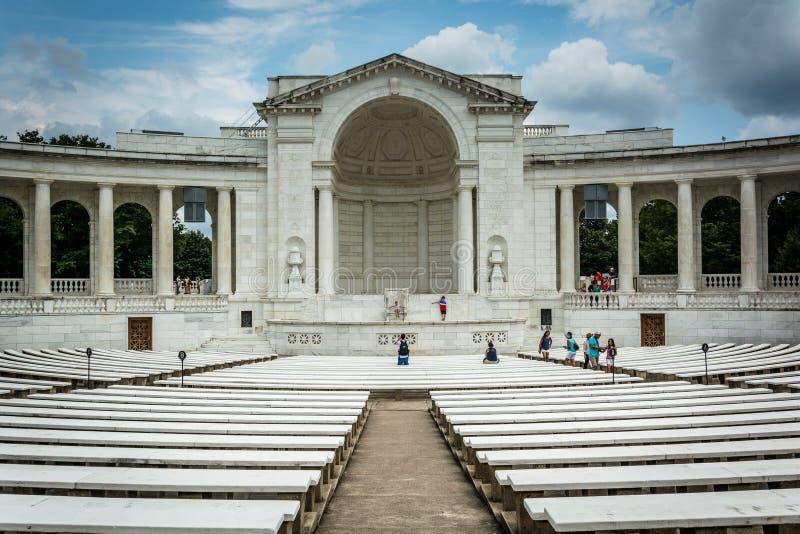 Das Arlington-Erinnerungsamphitheater an Arlington-Staatsangehörigem Cemete stockbild