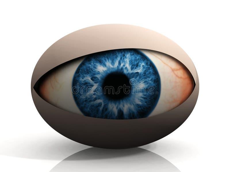 Das Auge stock abbildung