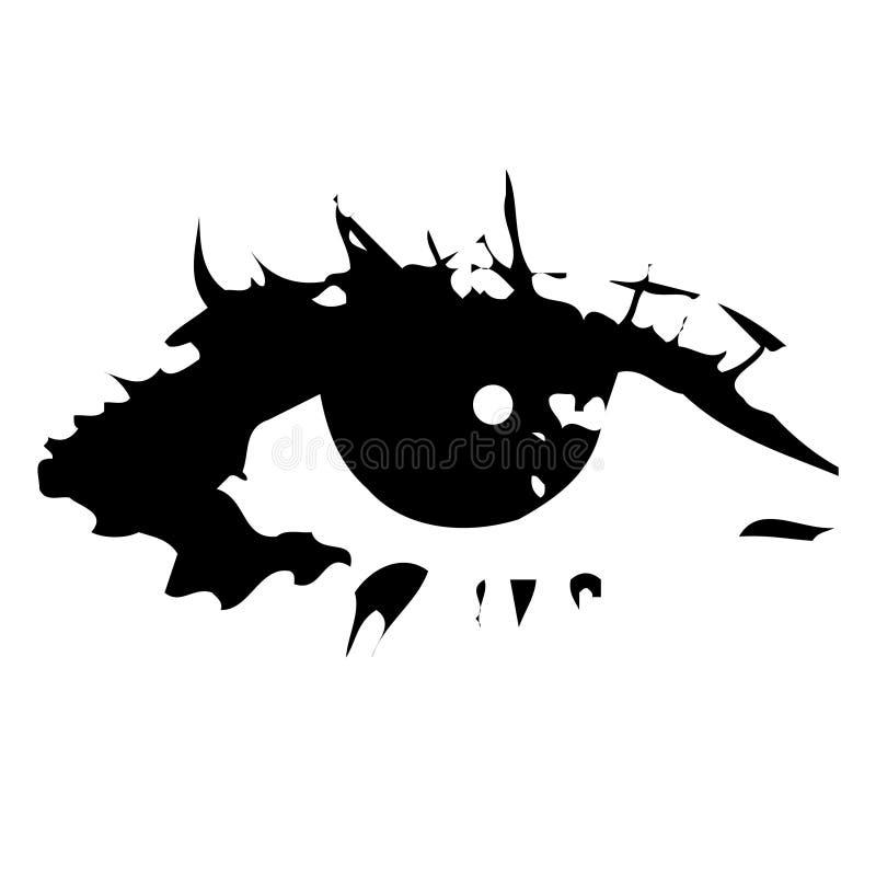 Das Auge lizenzfreie abbildung