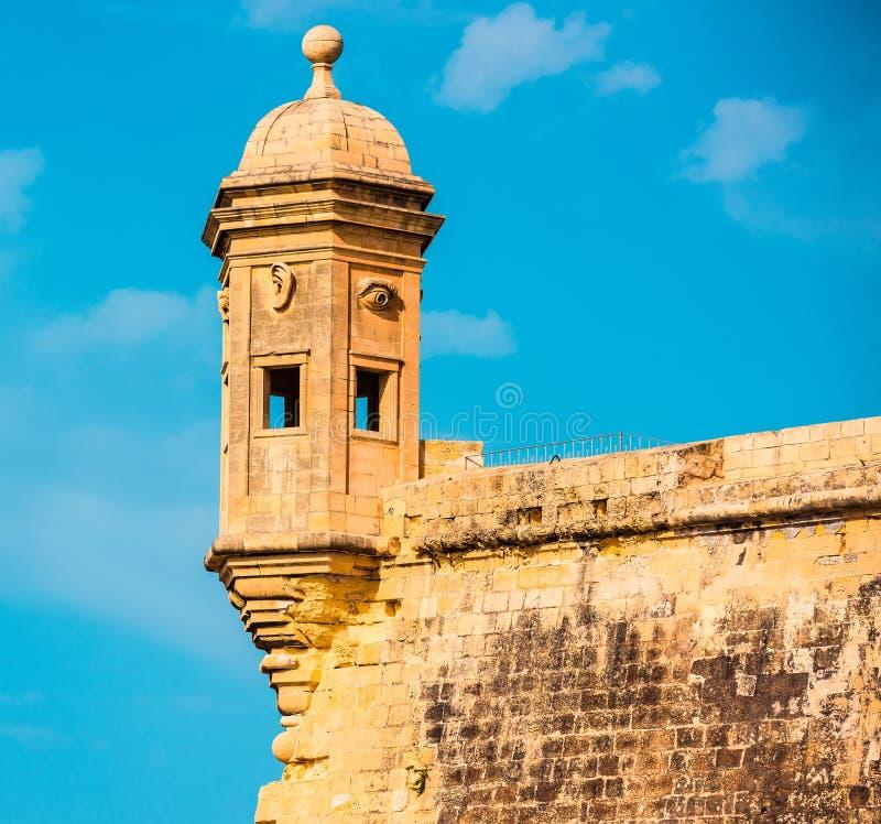 Das Auge u. das Ohr Vedette in Malta lizenzfreie stockbilder