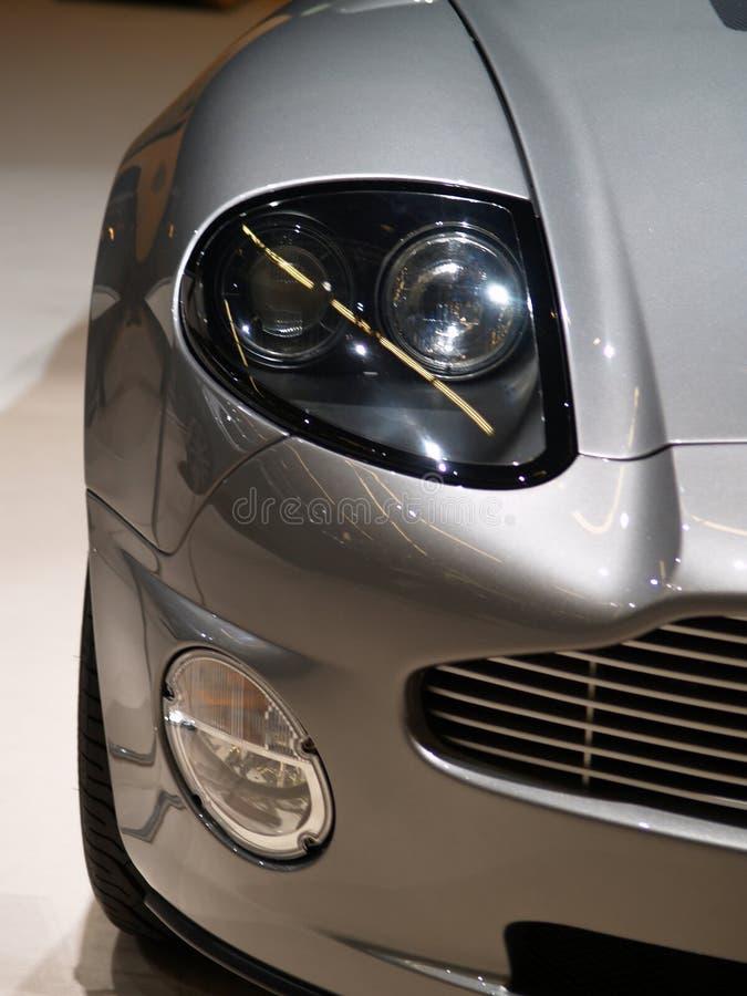 Das Auge von Aston Martin stockfotografie