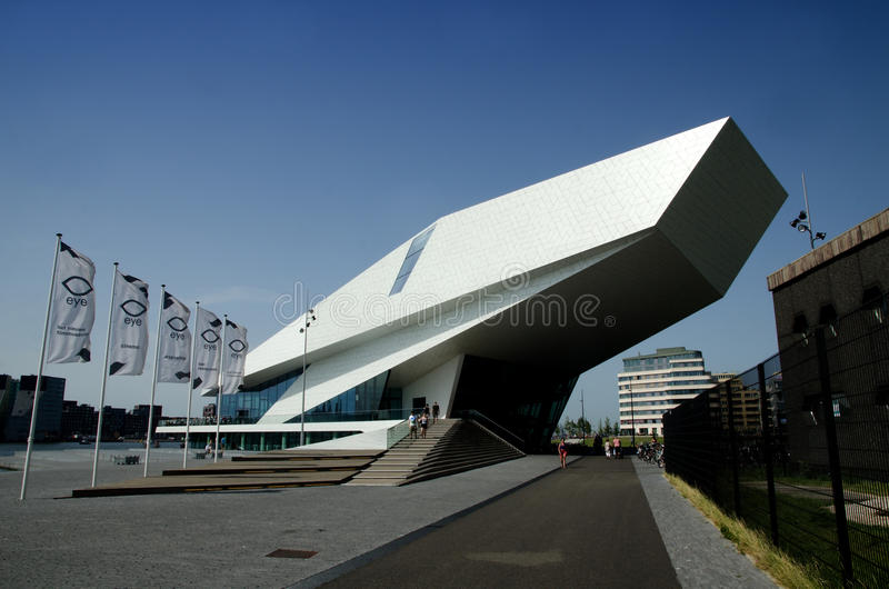 Das Augen-Museum des Filmes, Amsterdam lizenzfreie stockfotos