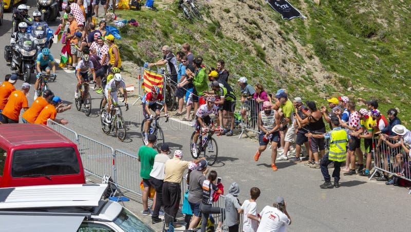 Das Ausbrechen auf Col. du Tourmalet - Tour de France 2018 lizenzfreie stockfotos