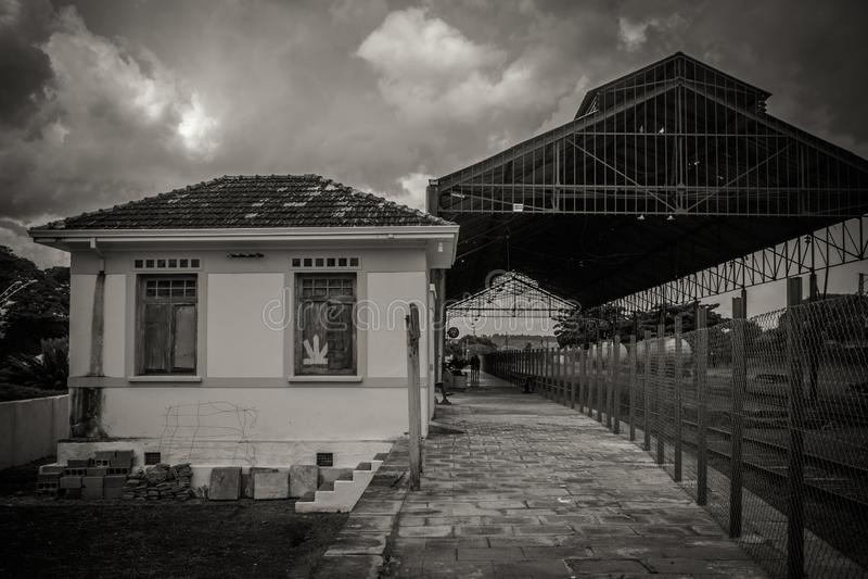 Das Bahnhof Dois Corrego SP Brasilien stockbilder