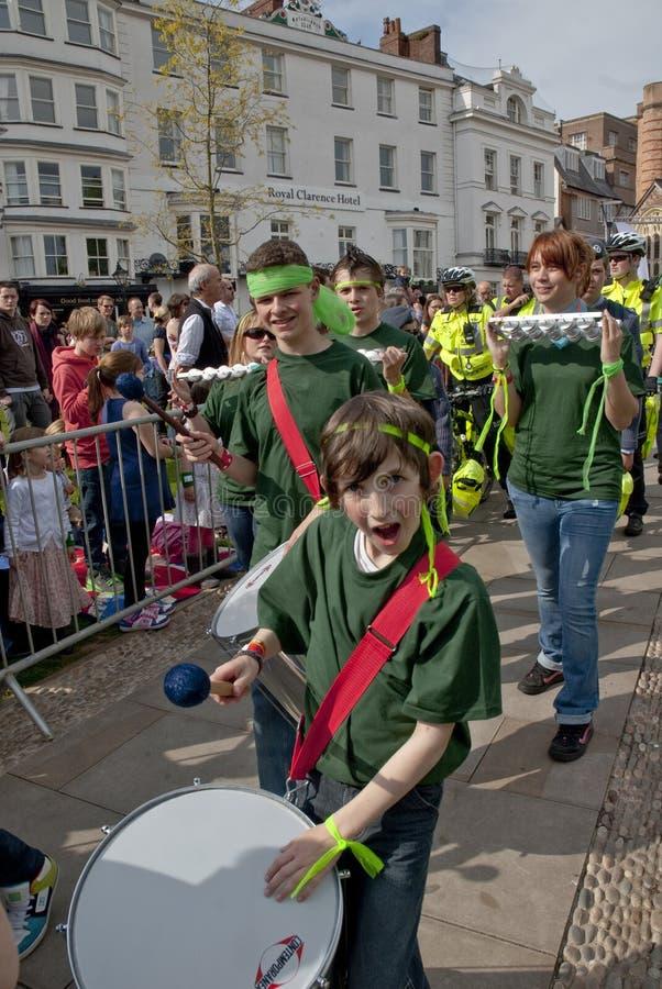 Das Band der unhöflichen Geräusche führen in Exeter durch stockfotos