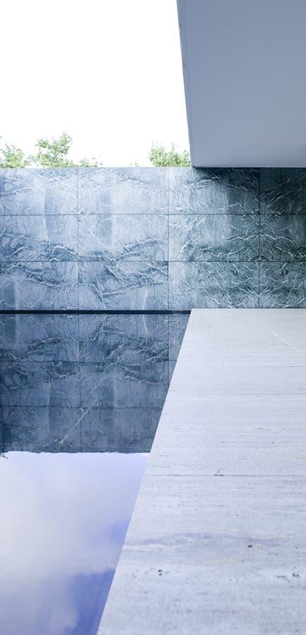 Das Barcelona-Pavillon-Ausstellungsgebäude stockbilder
