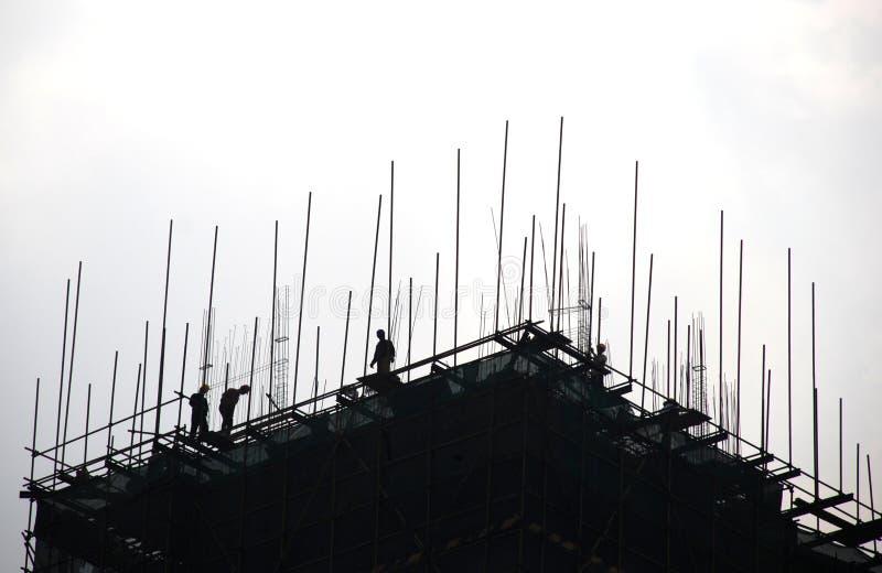 Das Baustelleschattenbild stockbild