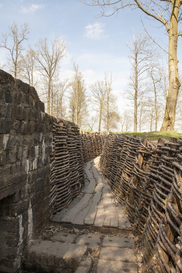 Das Bayernwald gräbt den Ersten Weltkrieg Flandern Belgien lizenzfreie stockfotografie