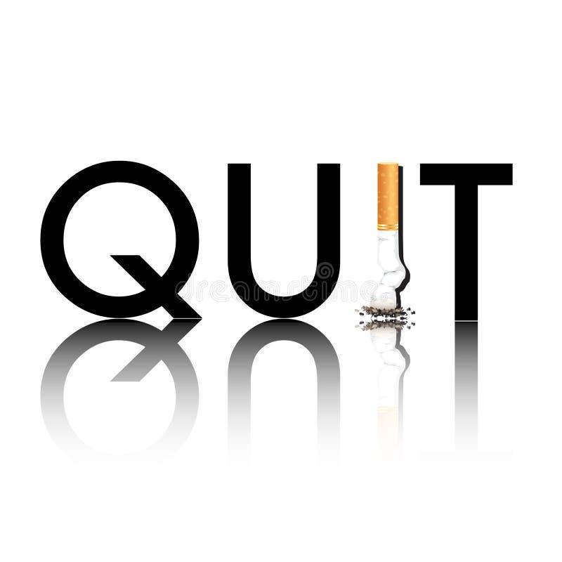 Das beendete Rauchen reflektierte sich lizenzfreie abbildung