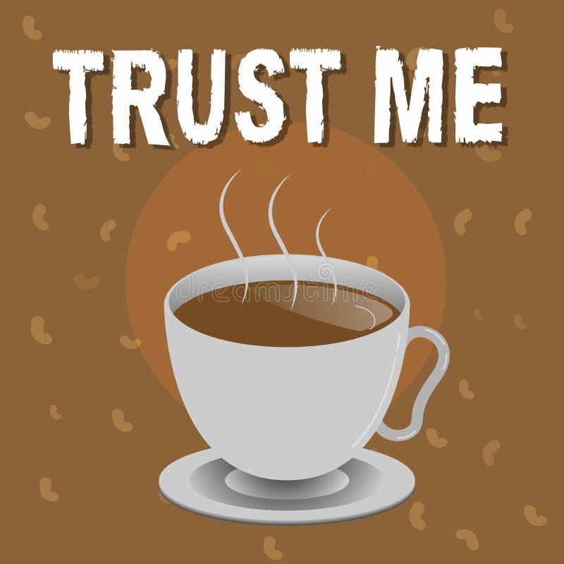 Das Begriffshandschriftdarstellen vertrauen mir Geschäftsfototext Believe haben Glauben in anderer zeigender Angebotstützunterstü lizenzfreie abbildung
