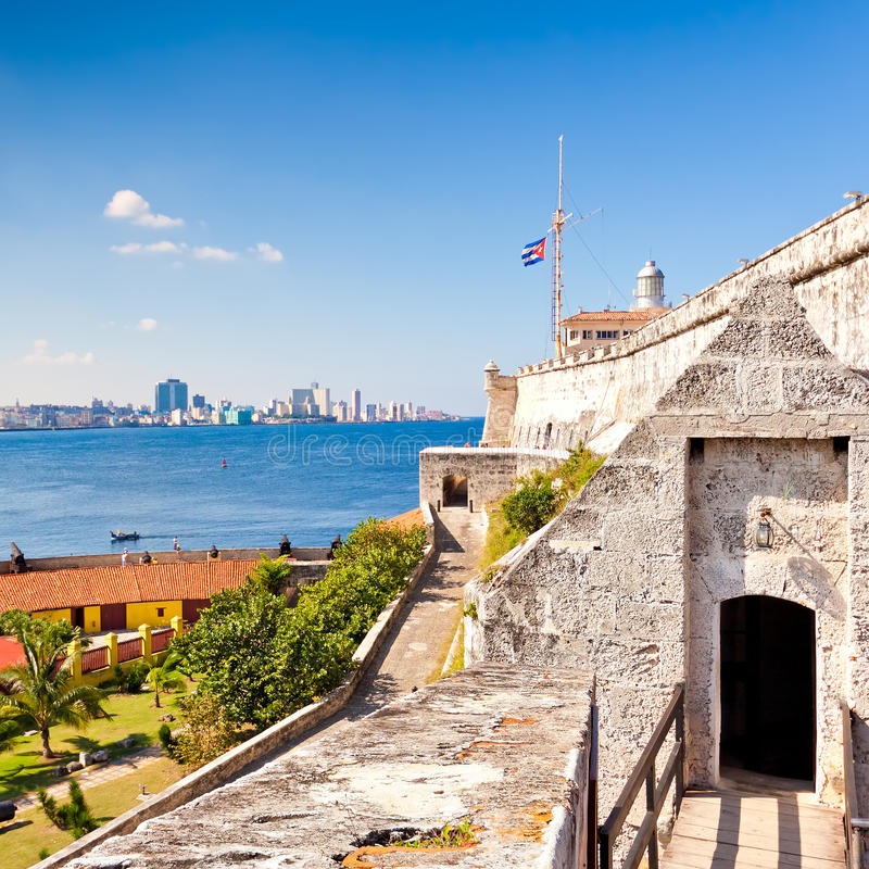 Das berühmte Schloss von EL Morro in Havana stockfoto