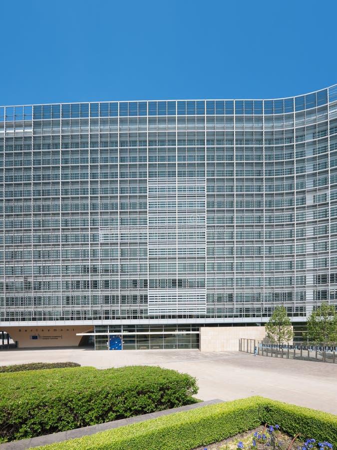 Das berlaymont-Gebäude in Brüssel lizenzfreie stockfotos