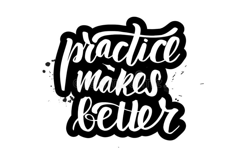 Das Beschriften von Praxis macht besser vektor abbildung