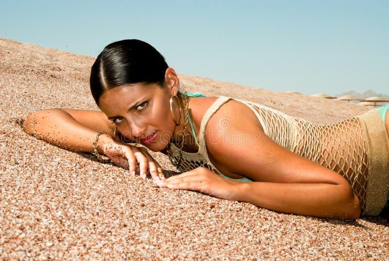 Das beste Baumuster auf Sand ein Portrait lizenzfreies stockfoto