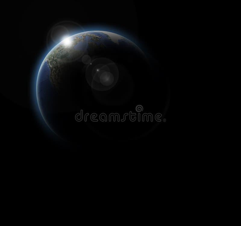 Das Bild der Welt, angesehen vom Weltraum lizenzfreie abbildung