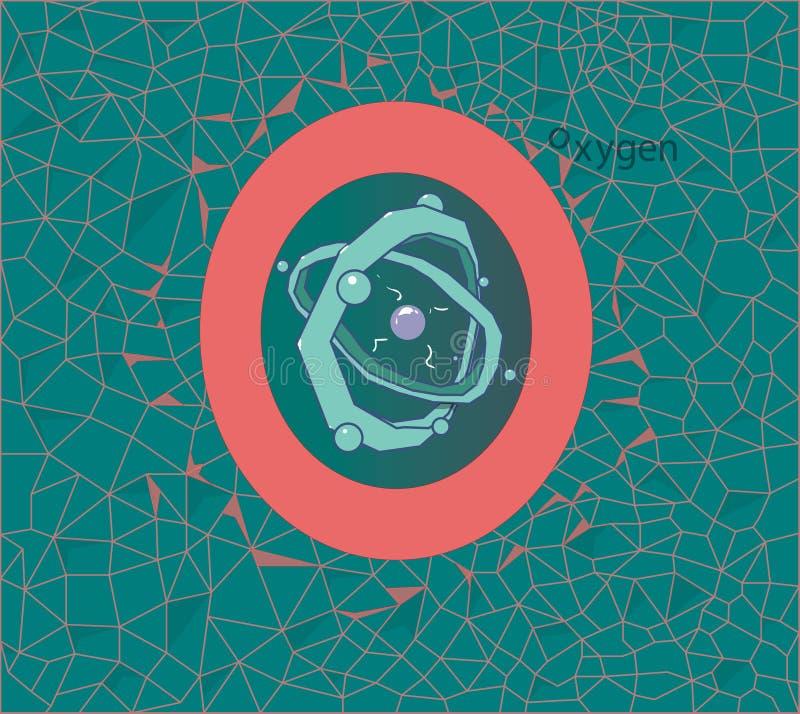 Das Bild des Sauerstoffatoms, das wird bezeichnet als der Buchstabe 'O ' stock abbildung