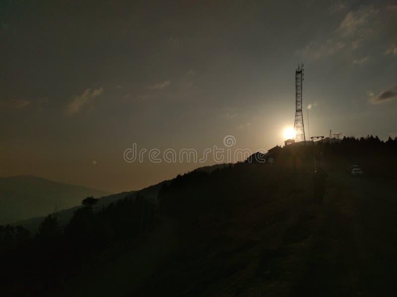 Das Bild des Sonnensatzes lizenzfreies stockbild