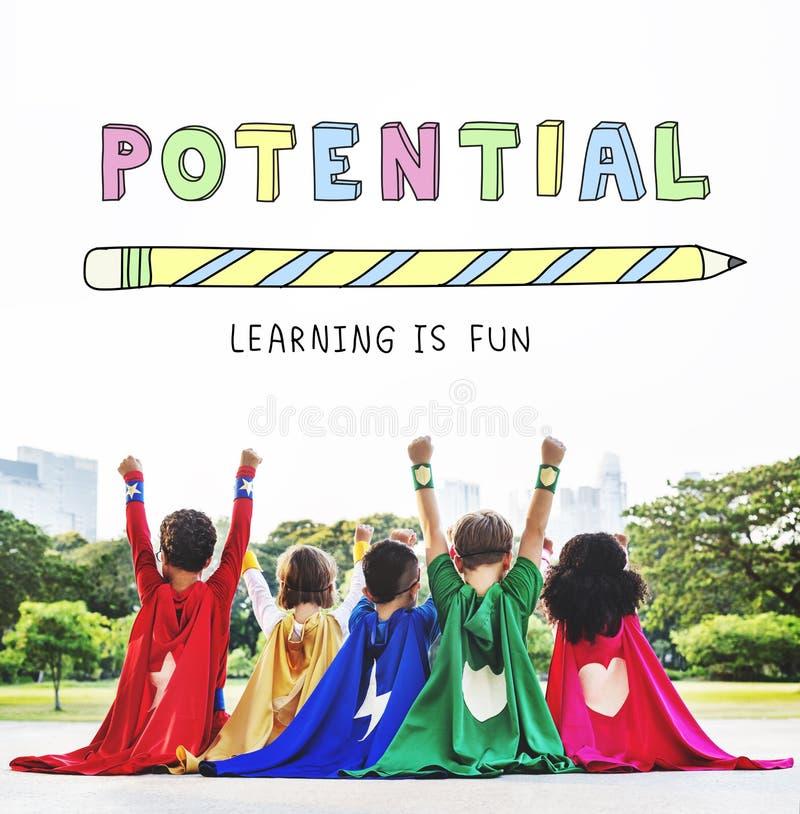 Das Bildungs-Lernen ist Spaß-Kindergraphik-Konzept lizenzfreie stockfotografie