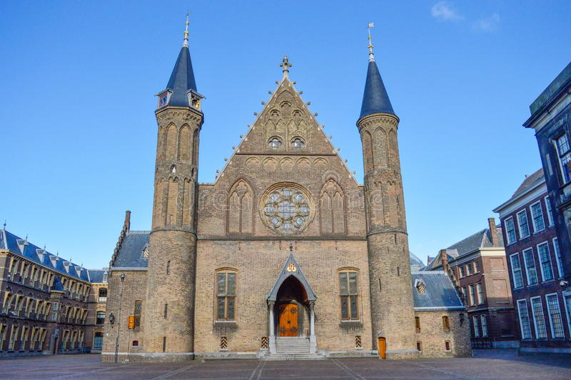 Das Binnenhof-Gebäude in der Höhle Haag, die Niederlande stockbild