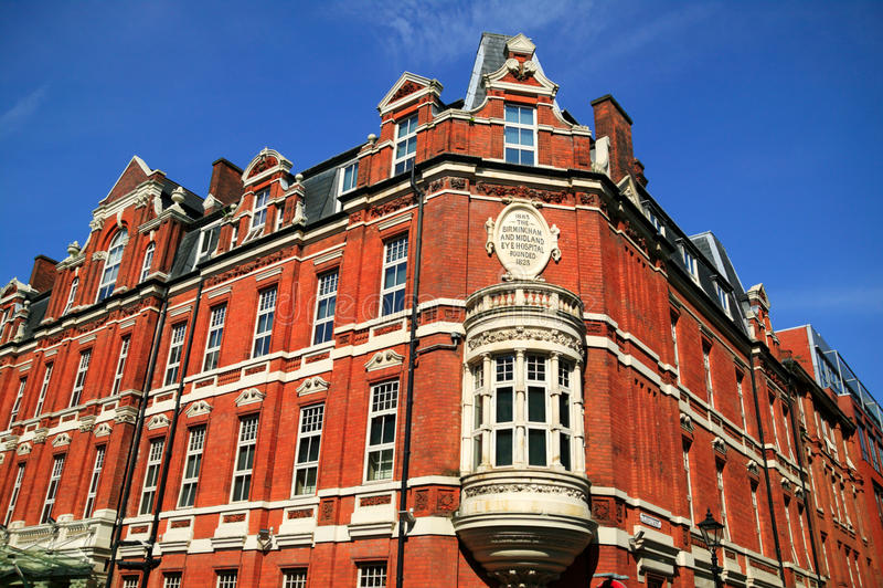 Das Birmingham-u. Binnenland-Augen-Krankenhaus lizenzfreies stockfoto